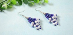 Seed Bead and Pearl Earrings