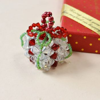 Beaded Present Ornament