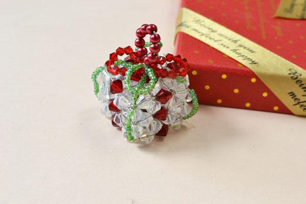 Beaded Present Ornament