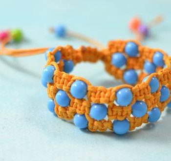 Square Knot Beaded Friendship Bracelet