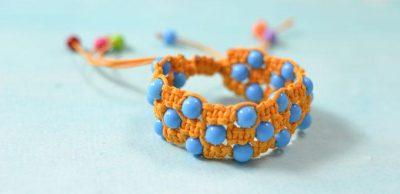 Square Knot Beaded Friendship Bracelet