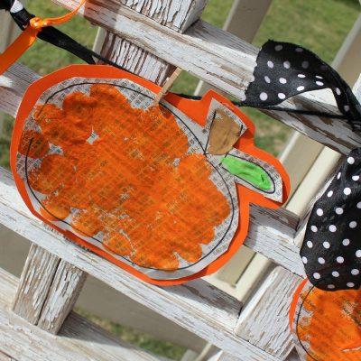 Recycled Newspaper Pumpkins