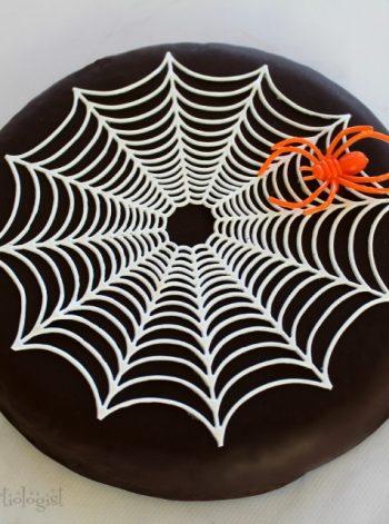 Spider Web Brownie