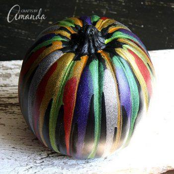 Glitter Drip Pumpkin