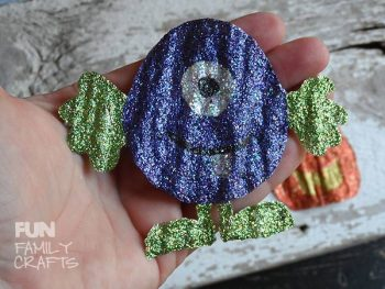 Have some Halloween fun with this glitter paint craft!