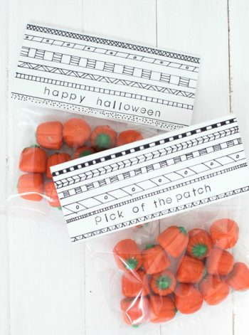 Sharpie Treat Bag Toppers