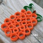 Make a pumpkin with this easy paper quilling project!