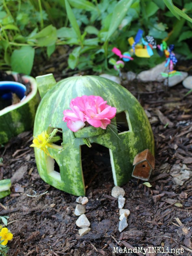 Watermelon Fairy House Fun Family Crafts