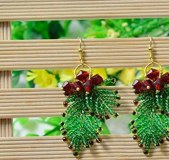 Christmas Seed Bead Earrings