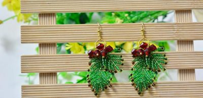 Christmas Seed Bead Earrings