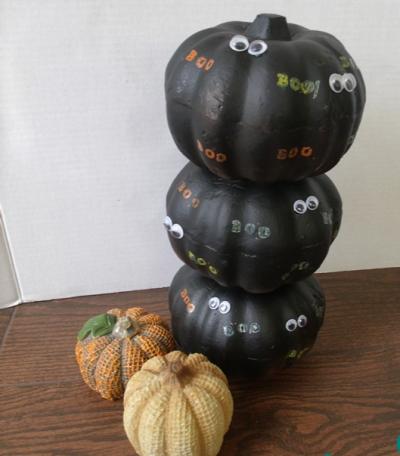 Spooky Pumpkin Topiary