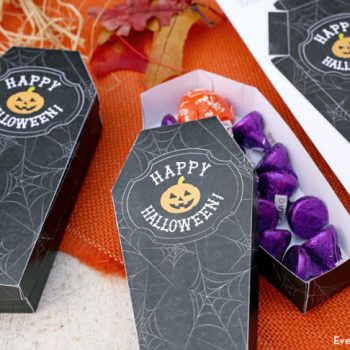 Printable Coffin Treat Boxes