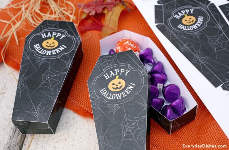 Printable Coffin Treat Boxes