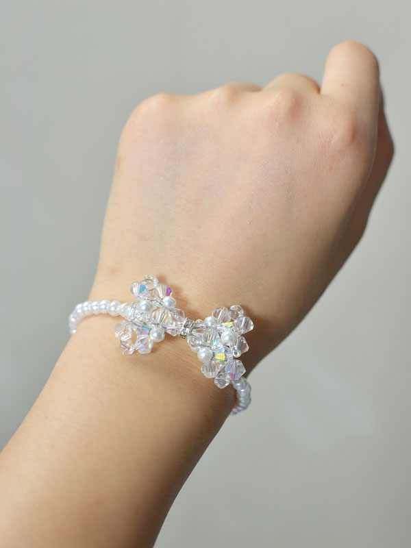 Crystal Bow Bracelet | Fun Family Crafts