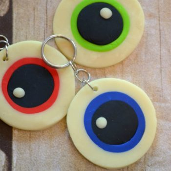 Glow-in-the-Dark Monster Eyeball Keychains