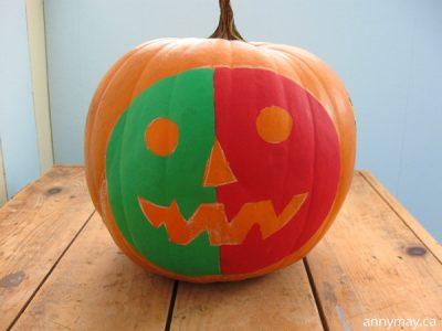 Painted Halloween Pumpkin