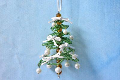 Seed Bead Christmas Tree Ornament