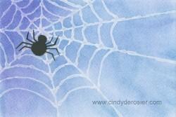 Glue-Resist Spiderweb
