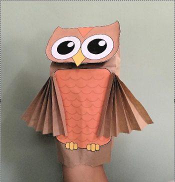 Paper Bag Owl Puppet