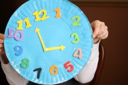 Paper Plate Clock Craft