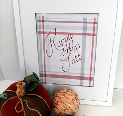 "Plaid ""Happy Fall"" Printable"