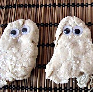 Playdough Ghosts