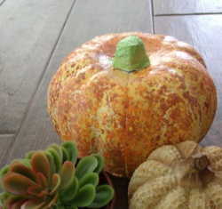 Faux Finish Painted Pumpkin