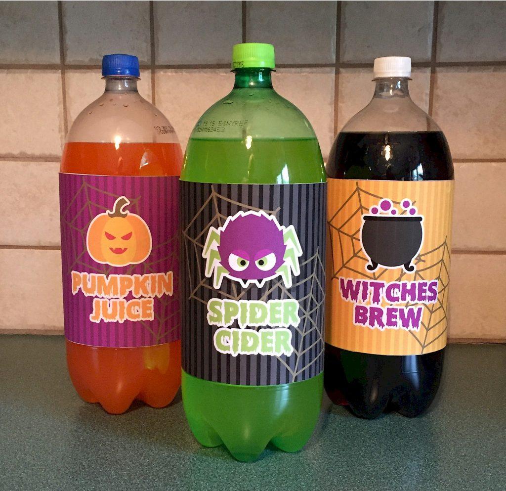 Halloween Soda Bottle Labels