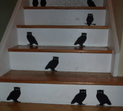 Spooky Stairway Bird Silhouettes