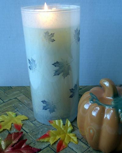 Leaf-Printed Vase Wrap