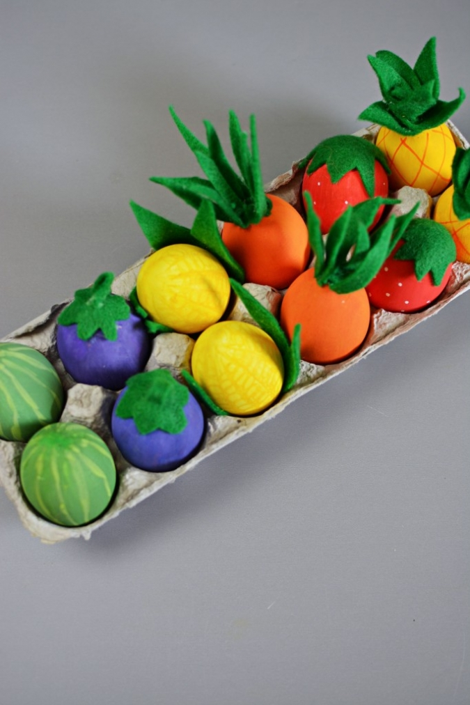 Vegetable Easter Eggs Fun Family Crafts