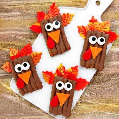 Chocolate Pretzel Turkeys