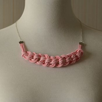 Suede Cord Braided Necklace