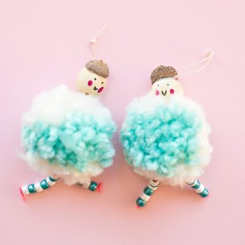 Pom Pom Doll Ornaments