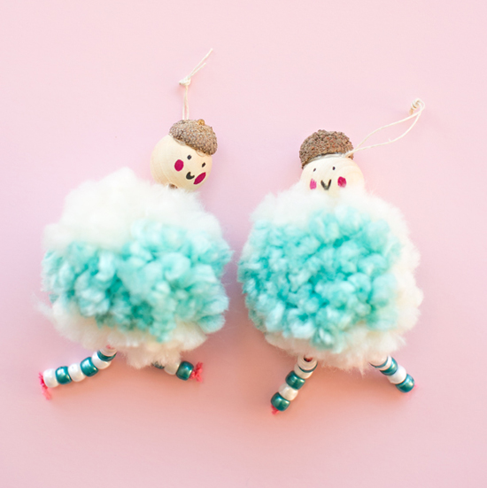 Pom Pom Doll Ornaments