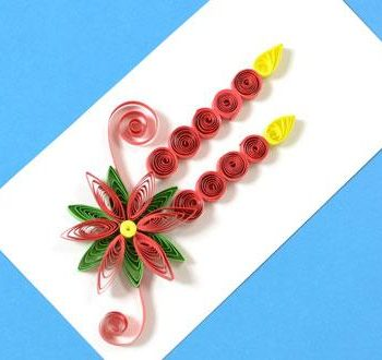 Quilled Poinsettia Card