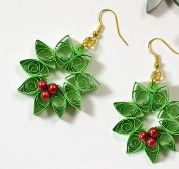 Quilled Wreath Earrings
