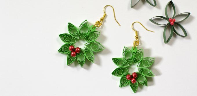 Quilled Wreath Earrings