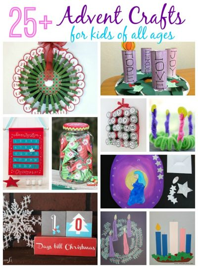 Advent is a time of preparation that begins four Sundays before Christmas. There are plenty of advent crafts for kids to help countdown the days.