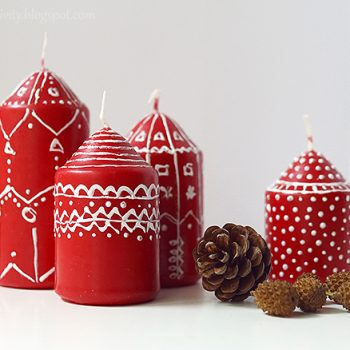 Painted Candles