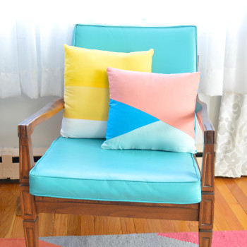 Easy Color Block Throw Pillows