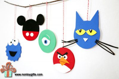 Turn scraps of colorful craft foam into adorable Christmas ornaments ...