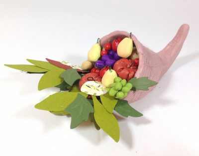 Miniature Clay Cornucopia