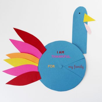 Colorful Paper Craft Turkey