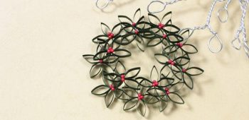 Quilled Holly Wreath