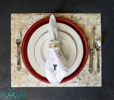 Faux Birch Place Mat
