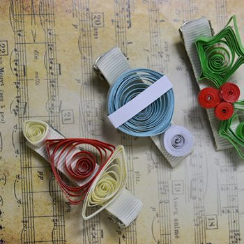 Quilled Paper Hair Clips