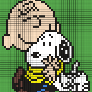 Charlie Brown and Snoopy Perler Bead Art