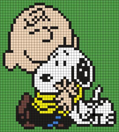 Charlie Brown and Snoopy Perler Bead Art