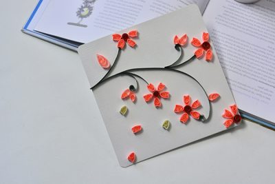Quilled Plum Flowers Card
